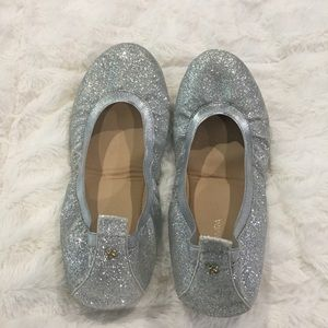Yosi Samra   Silver Glitter Foldable Ballet 10